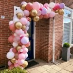 Organic ballonnenboog roze tinten