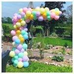 Organic ballonnenboog pastel
