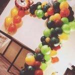 Organic ballonnenboog jungle thema
