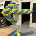 Pilaar wegwijzer ballonnen