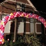 Grote ballonnenboog bloemen