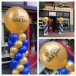 Ballonpilaar blauw goud Sellink Juwelier 100 jaar