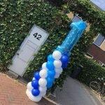 ballonpilaar 1 verjaardag blauw