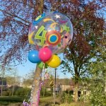 bubble ballon 40 verjaardag