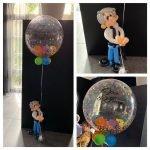 Decobubble confetti persoonlijke tekst opa ballonfiguur