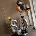 Ballondecoratie 80 verjaardag