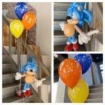 Sonic ballonfiguur heliumtros