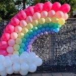 Regenboog pastel ballonnen