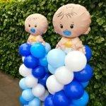 Ballonpilaren baby folieballon jongen